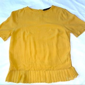 Zara Women Mustard Top SzXs